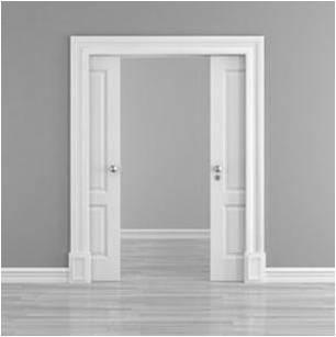 Puertas en block fabricaci n y venta puertas jemofer - Puertas correderas blancas ...
