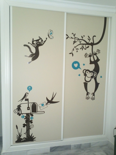 Vinilos para puertas de armarios puertas jemofer - Vinilos puertas armarios ...
