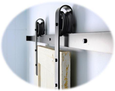 nuestras puertas correderas estilo granero son con galera superior rodamientos separadores topes guas y tornillera en hierro lacado