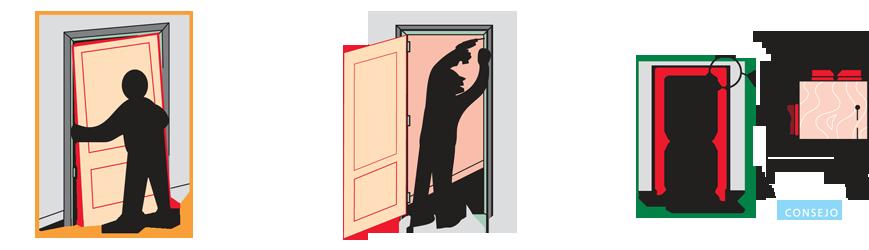 tercer paso montar puerta en block, colocación de la hoja