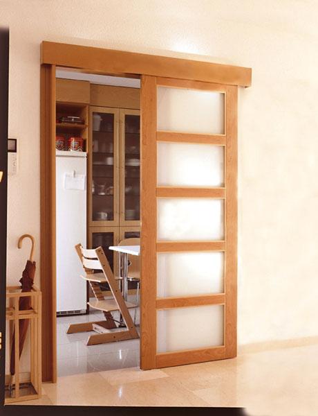 Puertas correderas puertas jemofer for Puertas madera y cristal interior
