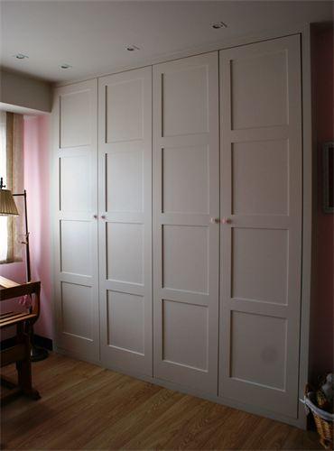 Armario blanco abatible lac 300 puertas jemofer - Puertas abatibles para armarios empotrados ...