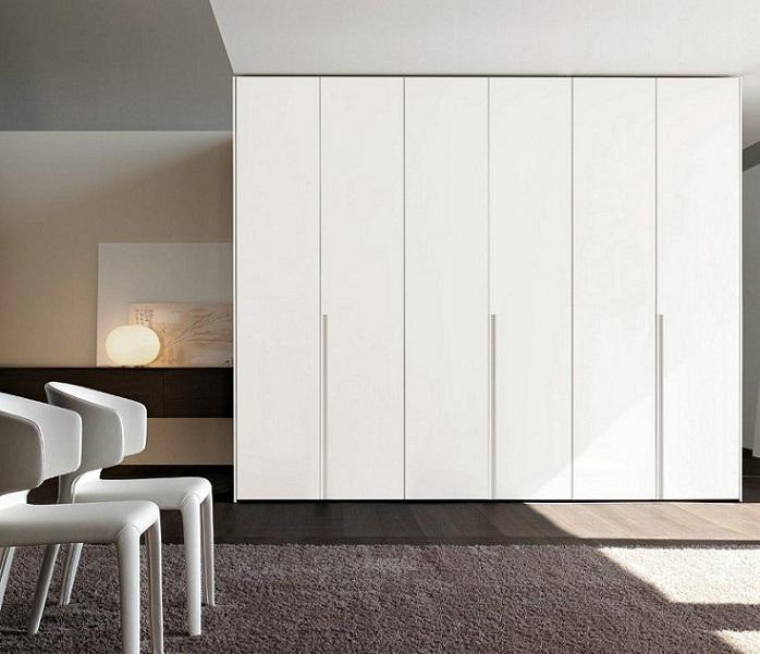 Armario lacado puertas abatibles lac 400 puertas jemofer for Frentes de armarios de cocina