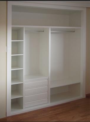 Interior de armario blanco int 04 puertas jemofer - Armario blanco pequeno ...