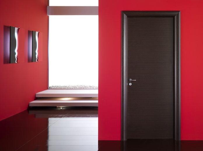 Ambientes puerta modernas puertas jemofer for Puertas color wengue