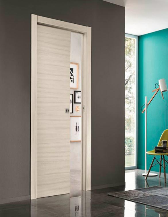 Puerta corredera oculta estilo moderno lh puertas jemofer - Puerta corredera oculta ...