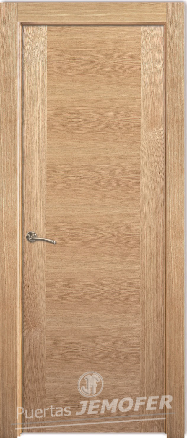 Puerta interior moderna lhv roble haya puertas jemofer for Puertas de roble interior