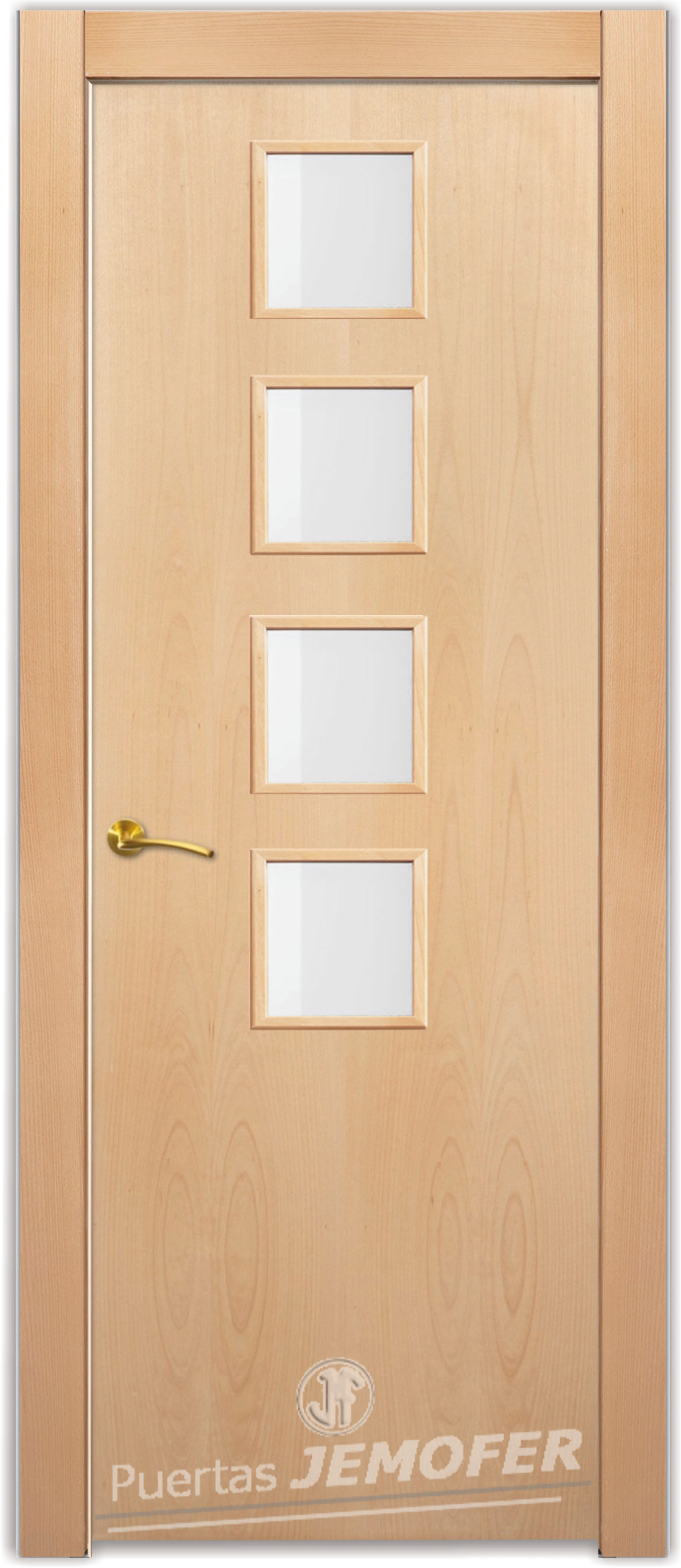 Puerta interior moderna l1 4vc puertas jemofer - Puertas de interior blancas precios ...