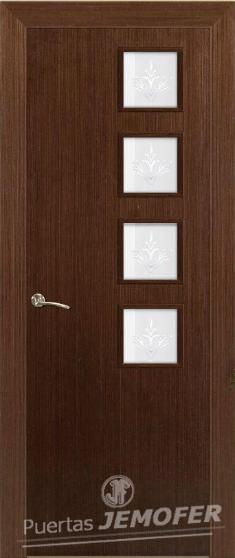 Puerta interior moderna wengue l1 v4l puertas jemofer for Puertas interior modernas