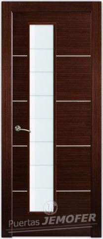Puerta interior l2 wengue v1l puertas jemofer for Catalogo de puertas de madera pdf
