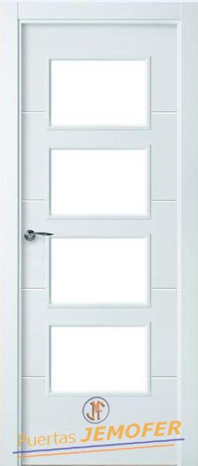 Puerta lacada blanca lac 08 4v puertas jemofer - Puertas lacadas blancas precios ...