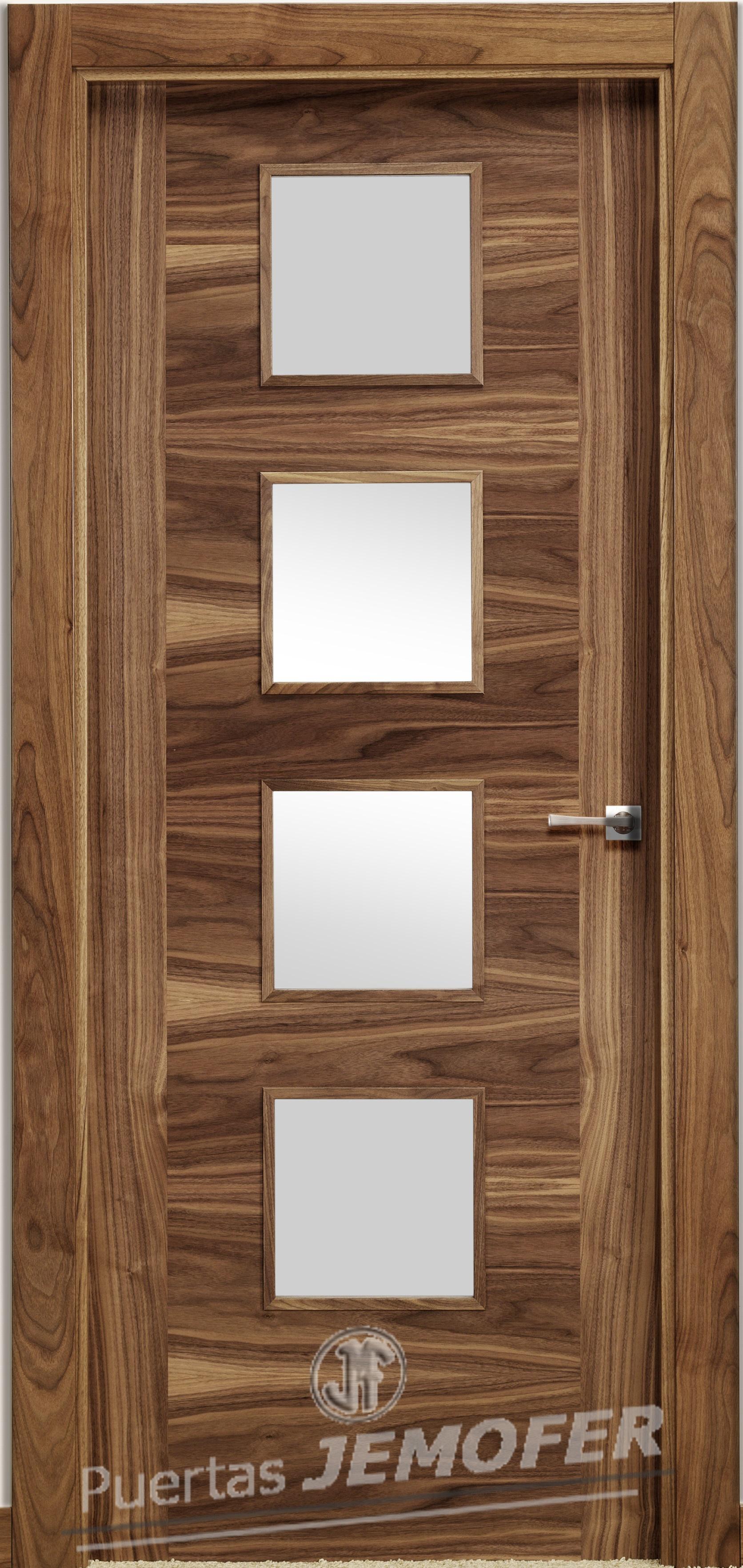 Puerta interior moderna lc4v4g puertas jemofer for Catalogo de puertas de madera pdf