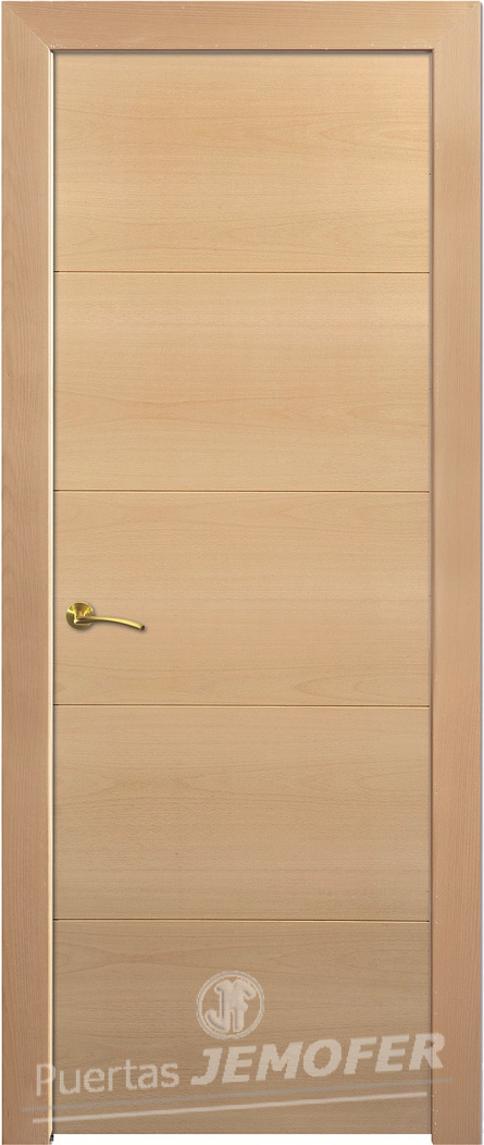 Puerta interior moderna lh r08 puertas jemofer for Puertas de madera interiores modernas