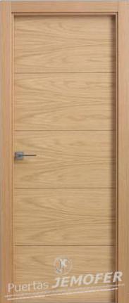 Puerta interior moderna lh r08 roble puertas jemofer for Precio puerta roble