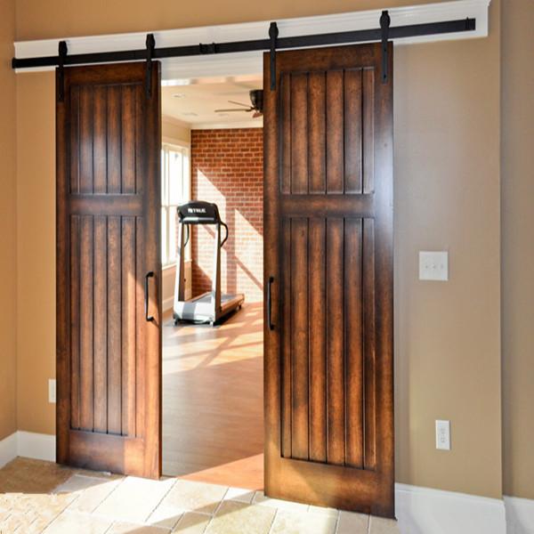 Puertas granero puertas jemofer for Como hacer puertas corredizas de madera para cocina