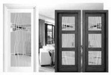vidrieras para puertas en block