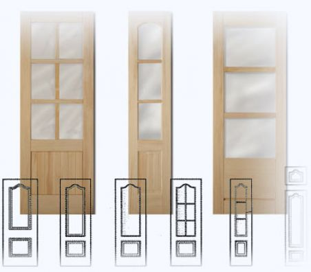 vidrieras para puertas en block rústicas y de madera