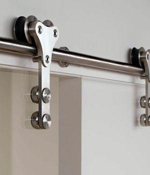 Herrajes para puertas de madera correderas puertas jemofer for Herrajes puertas cristal
