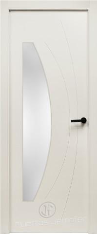 puerta lacada blanca deseño vela cristal