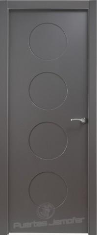 puerta lacada negra circulos