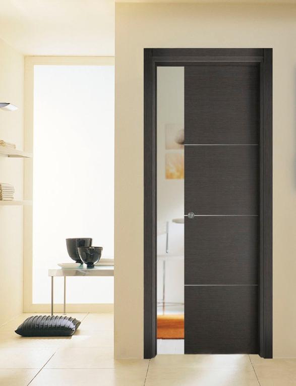 Puerta corredera oculta estilo moderno puertas jemofer - Casoneto para puerta corredera ...